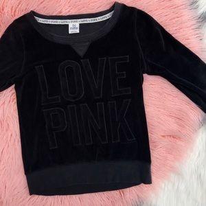 Love Pink black pullover
